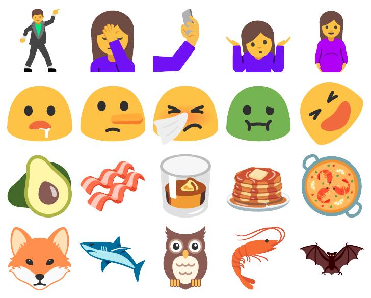 nuevos emojis android nougat
